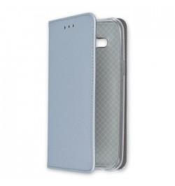 Metalo spalvos dėklas Smart Magnet Samsung Galaxy J500 telefonui