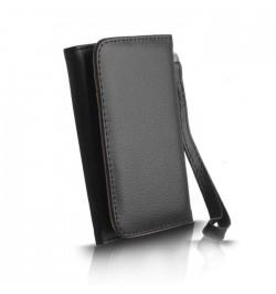 """Juodas dėklas """"Piniginė"""" Wallet XL i9100"""