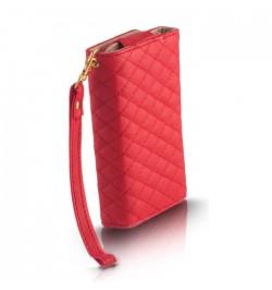 """Raudonas dėklas """"Piniginė"""" Wallet XL i9100"""