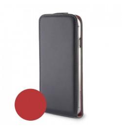 Odinis dėklas Duo Samsung Galaxy S6 Edge telefonui juoda/raudona