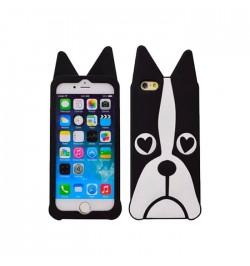 3D silikoninis dėklas šuo iPhone 5/5s/5se telefonui