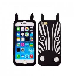 3D silikoninis dėklas zebras iPhone 5/5s/5se telefonui