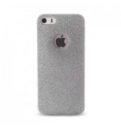 Blizgučių dėklas Samsung Galaxy A5 telefonui (sidabrinis)
