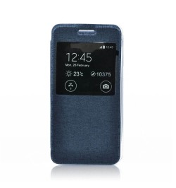 """Atverčiamas tamsiai mėlynas dėklas LG G3 telefonui """"S-View Flexi"""""""