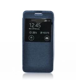 """Atverčiamas tamsiai mėlynas dėklas Samsung Galaxy Grand Prime (G530) telefonui """"S-View Flexi"""""""