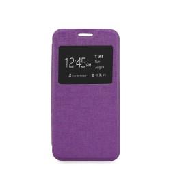 """Atverčiamas violetinis dėklas Samsung Galaxy S5/S5 Neo telefonui """"S-View Flexi"""""""