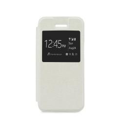 """Atverčiamas baltas dėklas SONY Xperia Z3 Compact telefonui """"S-View Flexi"""""""