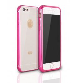"""Rožinis aliuminis dėklas iPhone 6 telefonui """"Alu bumper mirror"""""""