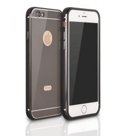 """Juodas aliuminis dėklas Samsung Galaxy Grand Prime telefonui """"Alu bumper mirror"""""""