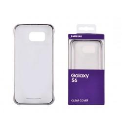 Originalus Samsung Galaxy S6 dėklas ( skeidrus-sidabrinis)