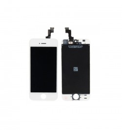 Telefono iPhone 5 ekranas LCD + Touch Panel HQ TM PLUS baltas