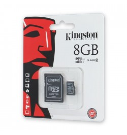 MicroSD atminties kortelė 8GB class4 KINGSTON