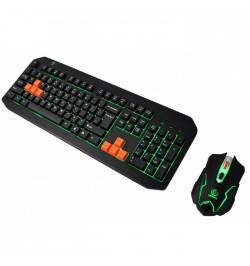 Žaidimų klaviatūra + pelė Fighter (Rebeltec)