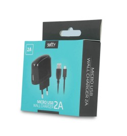 Įkroviklis 2A + micro USB black SETTY