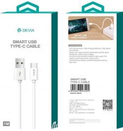 Laidas USB Type-C DEVIA baltas