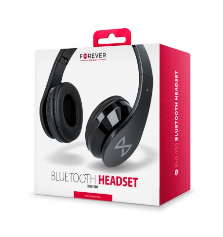 Ausinės Forever Bluetooth headset BHS-100 black