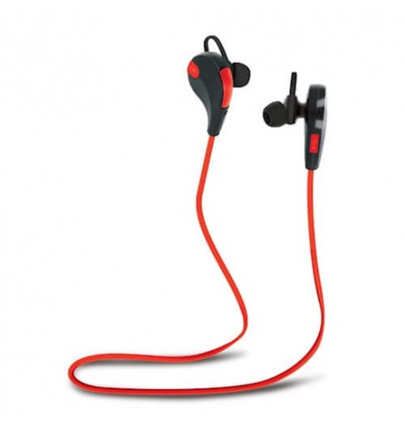 Ausinės Forever Bluetooth headset BSH-100 red+black