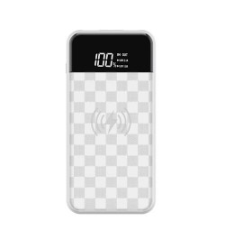 Powerbank Devia JU inductive charging white 8000mah Power bank