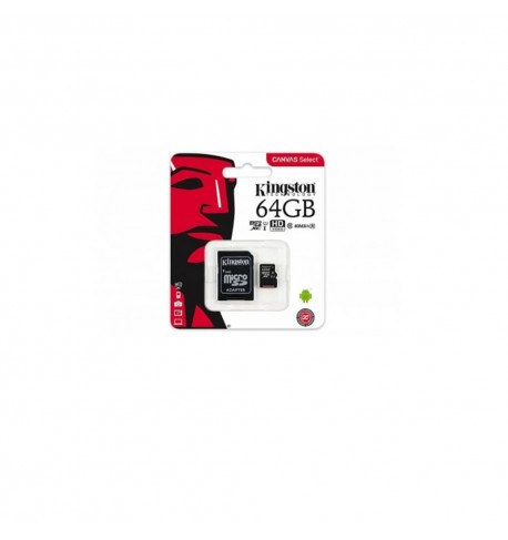Kingston memory card microSDXC 64 GB, UHS-I, class 10 with adapter