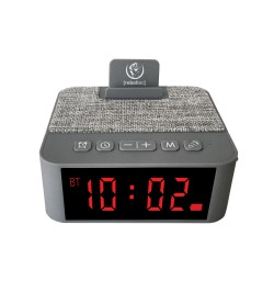 REBELTEC loudspeaker with alarm SoundClock 120 gray